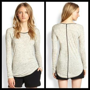 Rag & Bone Long Sleeve T Small Black/White